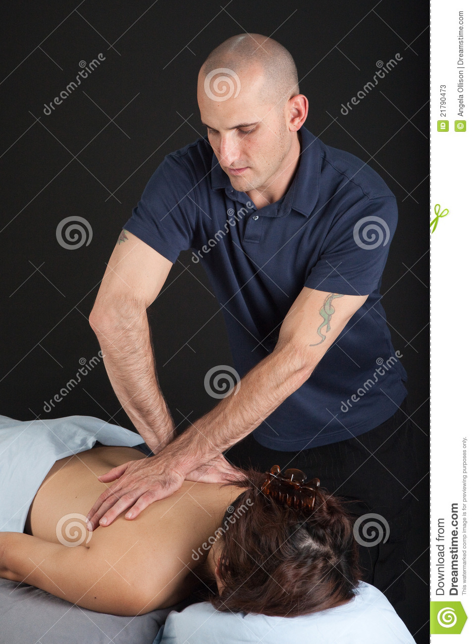 Women Giving Men Massages