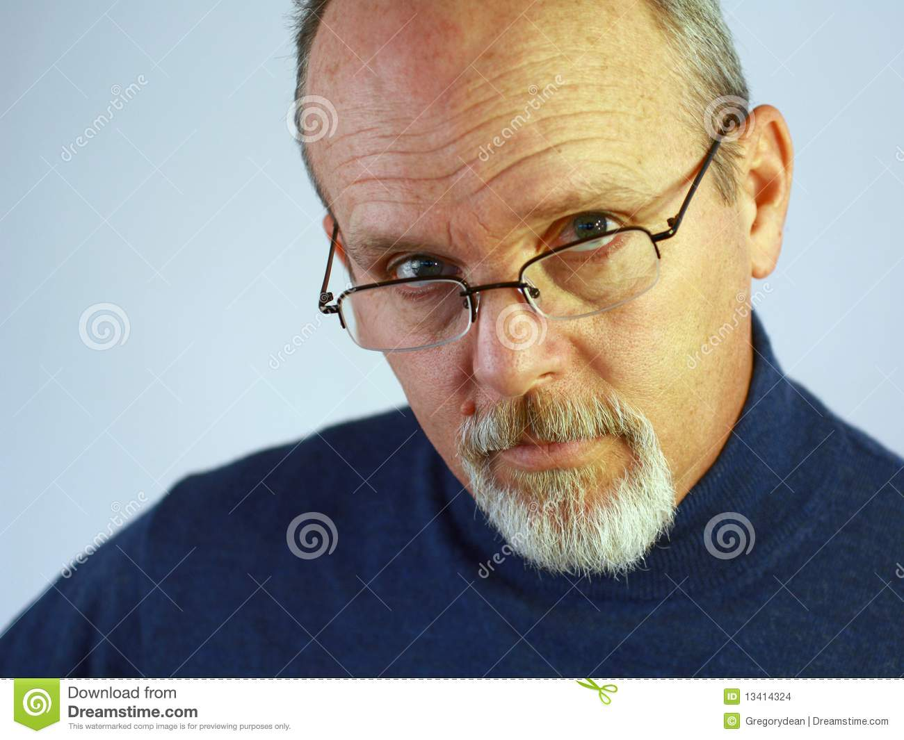 Man With Glasses And Goatee Stock Images - Image: 13414324 Quiet Person Clipart