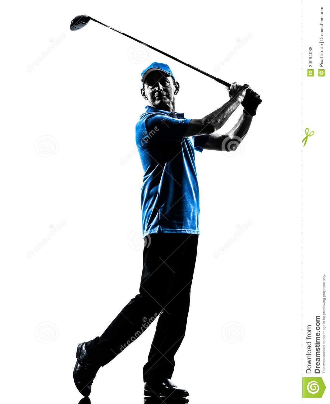 Man Golfer Golfing Silhouette Stock Photo Image Of Person Length