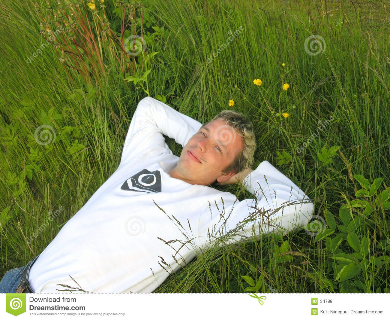 Man in the grass 2