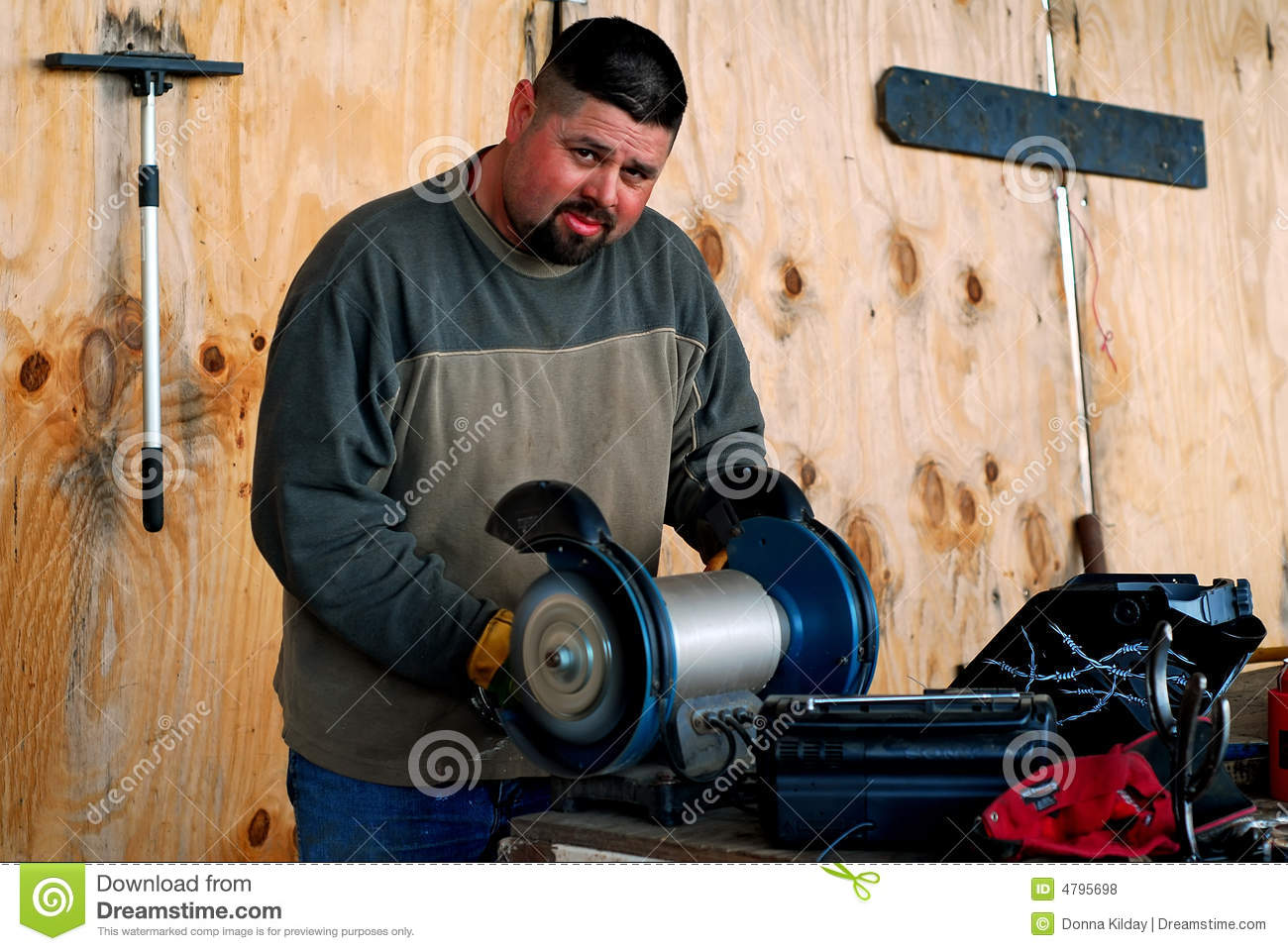 Man And Grinding Tool Stock Photo Image Of Mexican