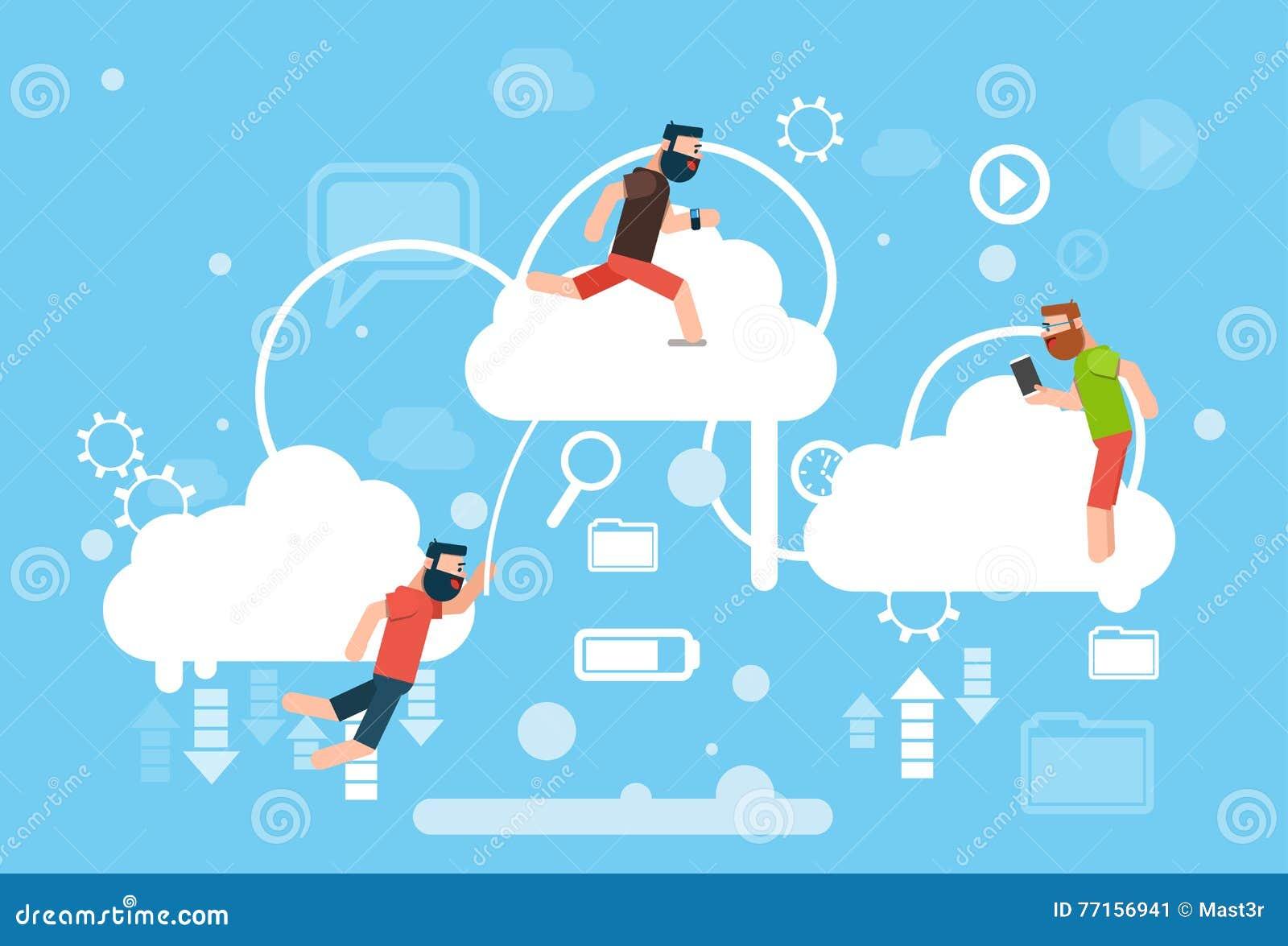 Man Group occasionnel sur des données en ligne d Internet de technologie informatique de nuage