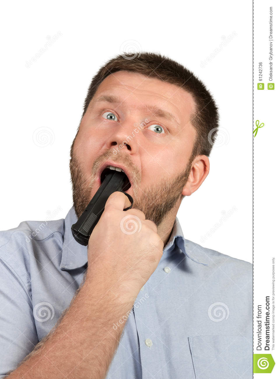 Man With Gun In Mouth 76