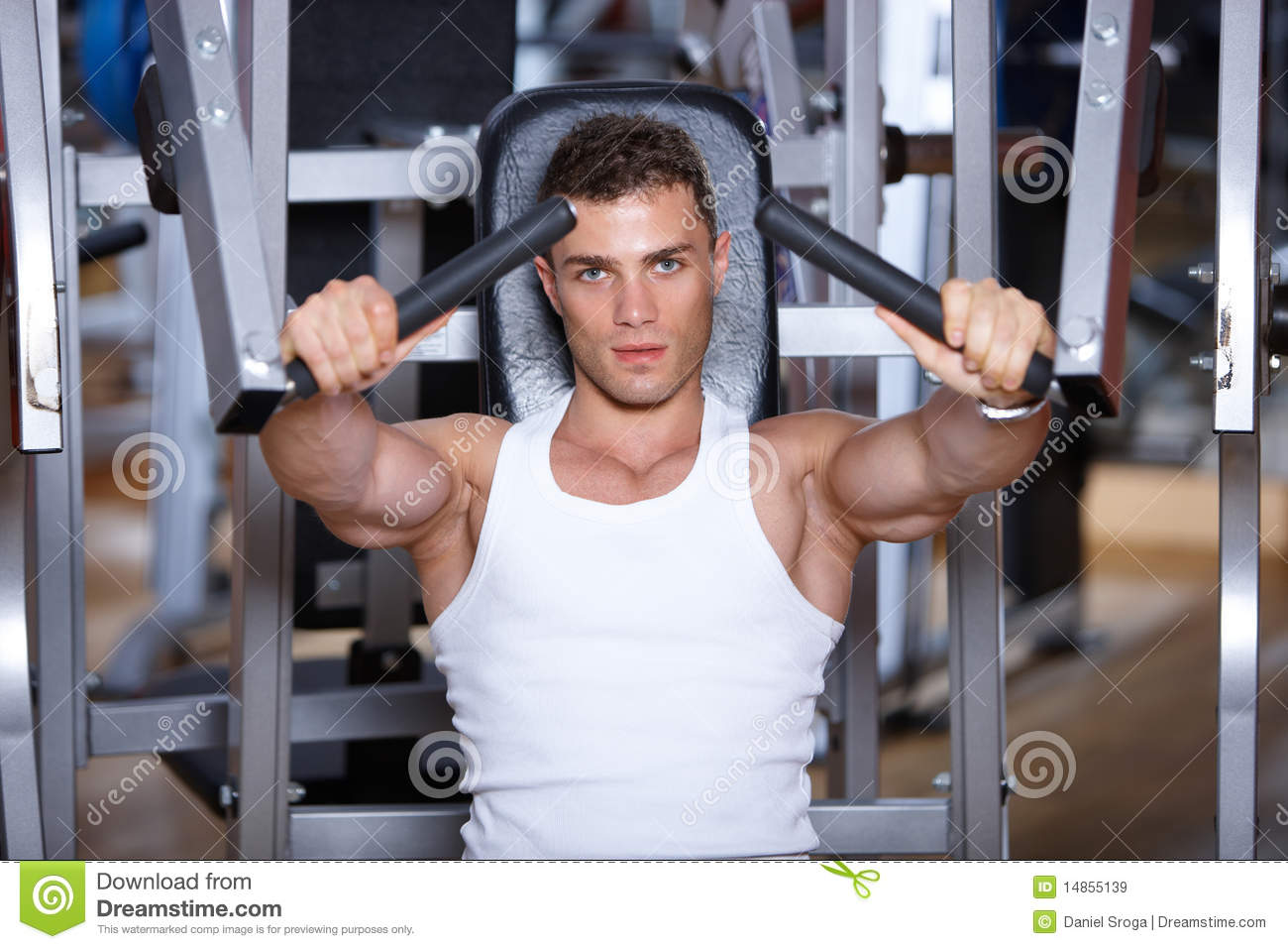 Man at the gym