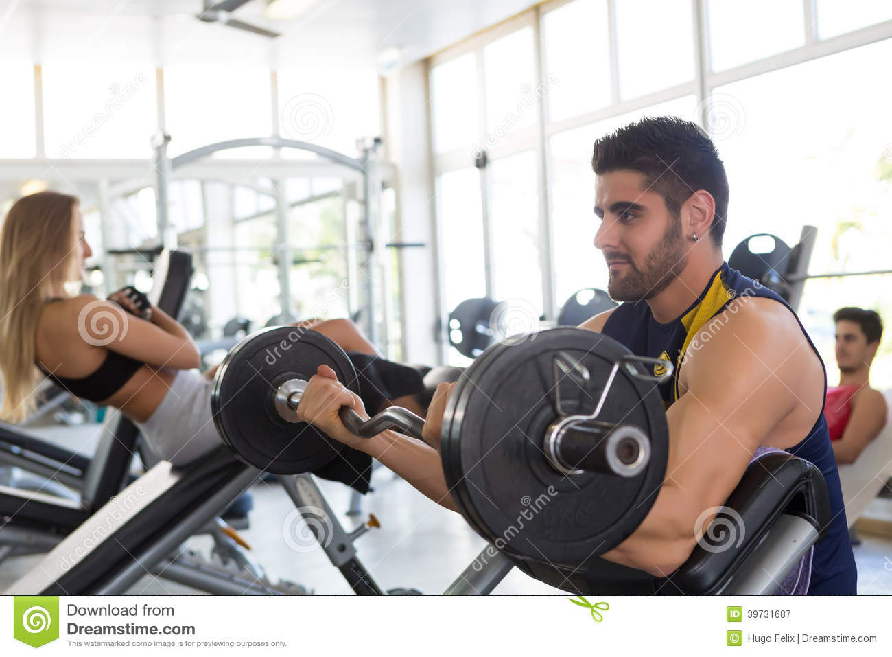 Man At The Gym Stock Photo - Image: 39731687