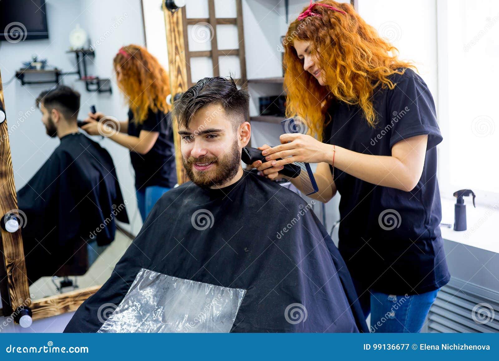 Man at a hair salon