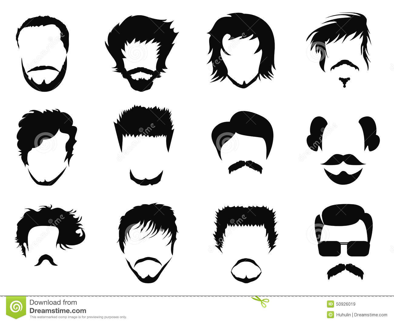 Man hairstyle vector stock vector. Illustration of curly ... Men Hair Clipart