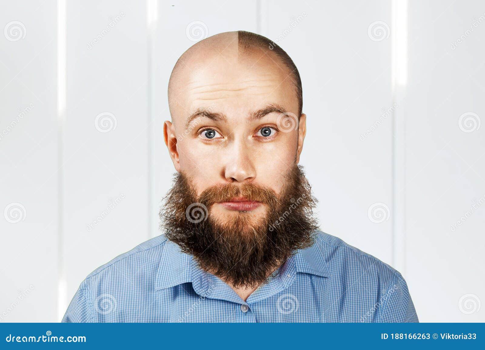 Head hair shaved facial Bald Head