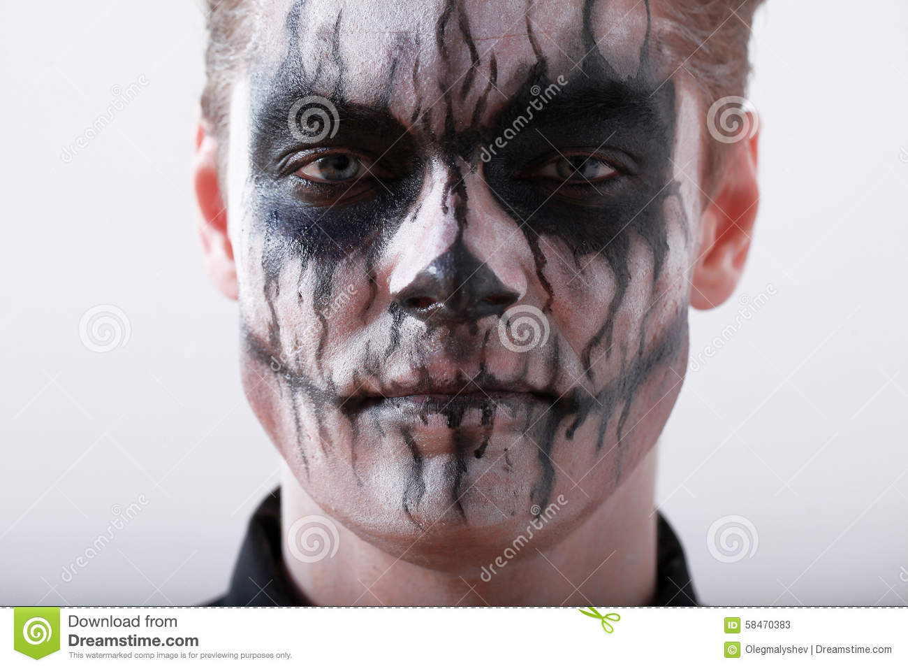 Scary halloween makeup for guys