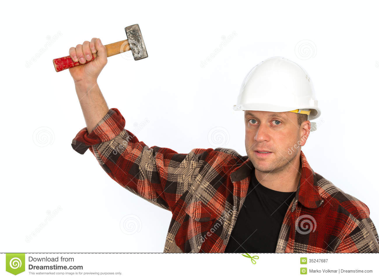 Man With Hammer Royalty Free Stock Photography Image