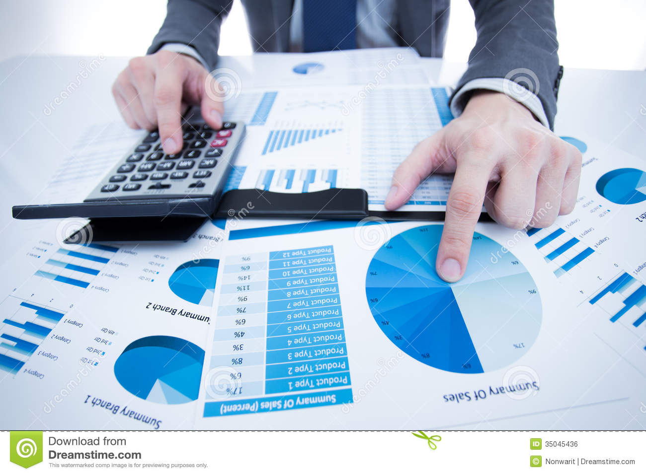 Man Hand With Business Report Royalty Free Stock Image