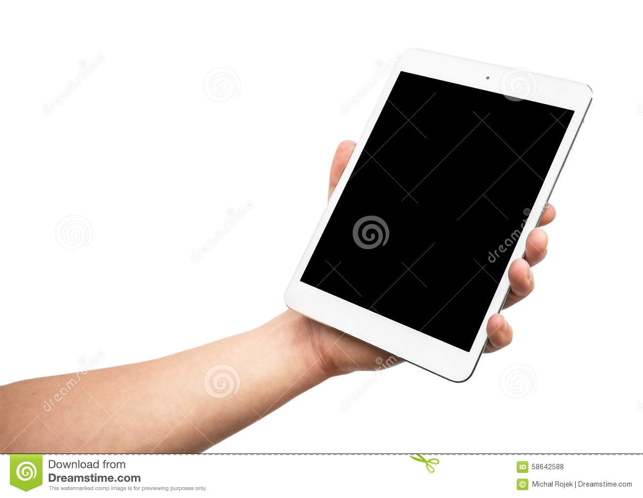 Ipad Retina Wallpaper Art Hand: Man Hand Holding The IPad Mini 3 Retina Stock Photo
