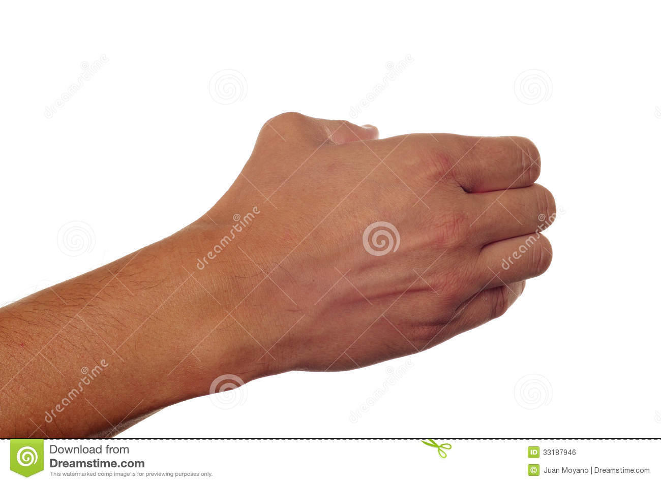 Man Hand Holding Something Royalty Free Stock Image - Image: 33187946
