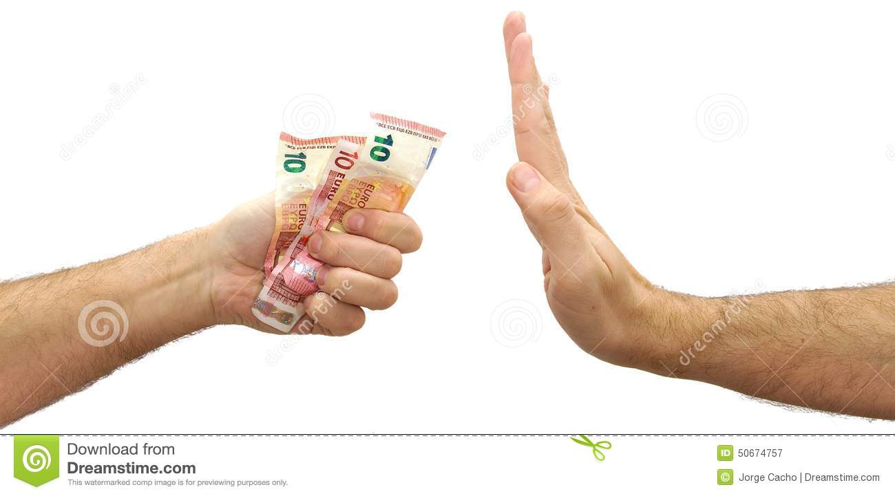 man hand refusing money offered rejecting an stock photo image man hand refusing money offered rejecting an