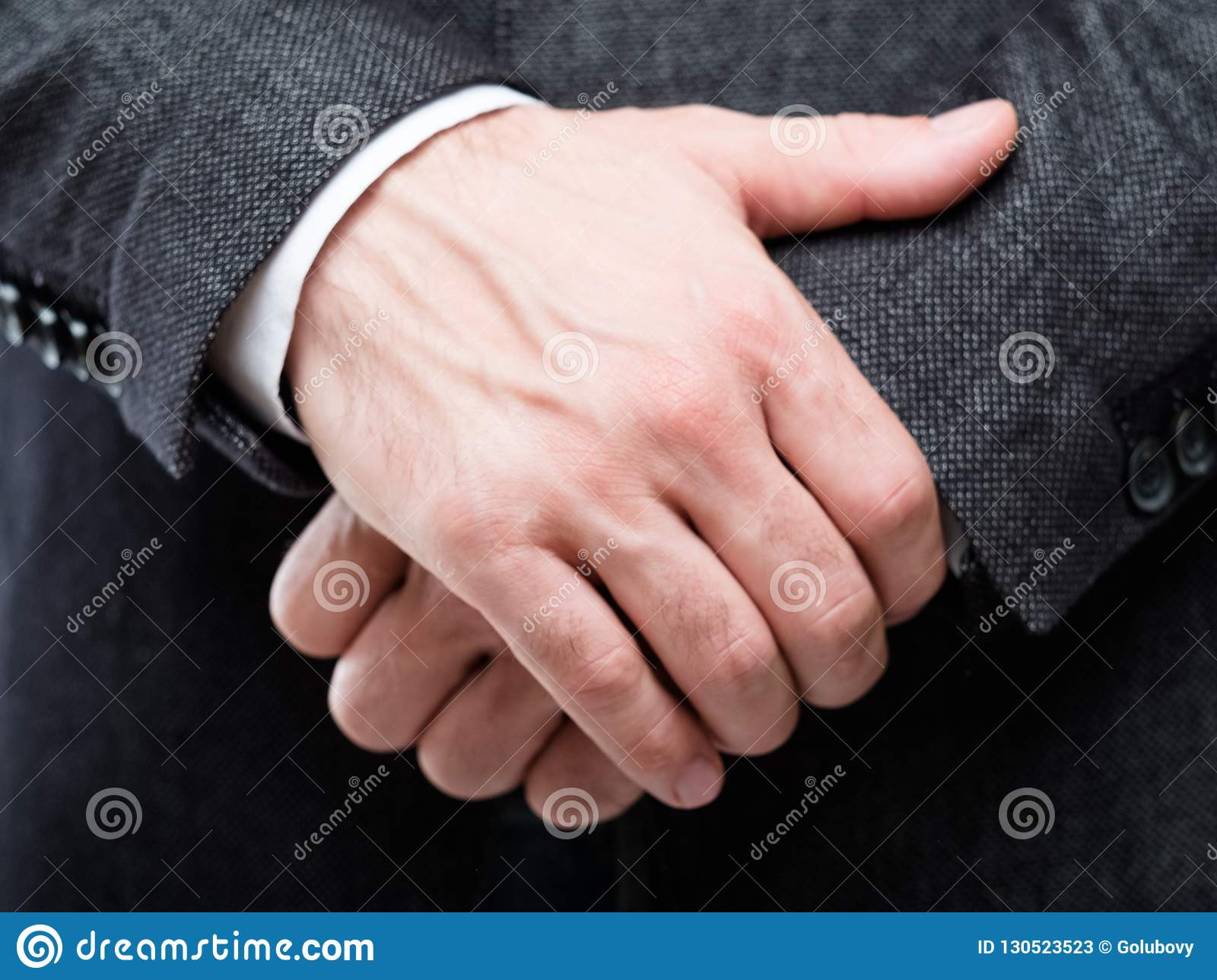 Man hands gesture protection defence insecurity