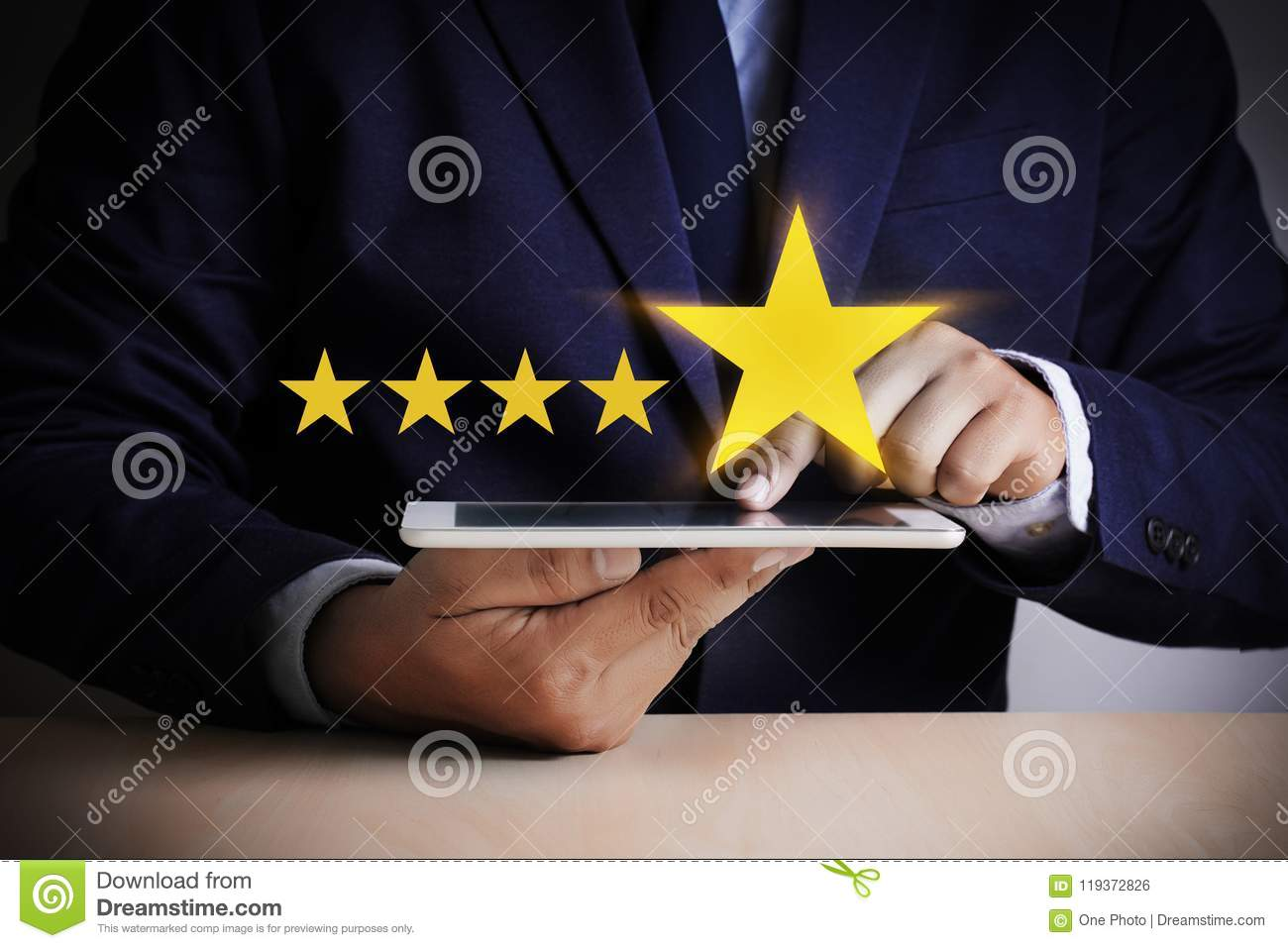 Man Happy Customer give Five Star Rating Experience Customer se