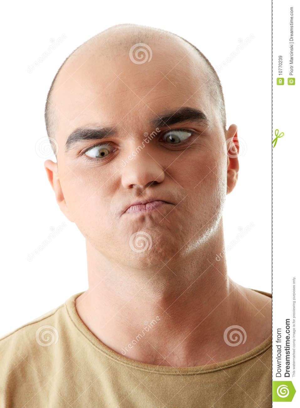 Man With Happy Facial Expression Stock Image - Image: 10770239
