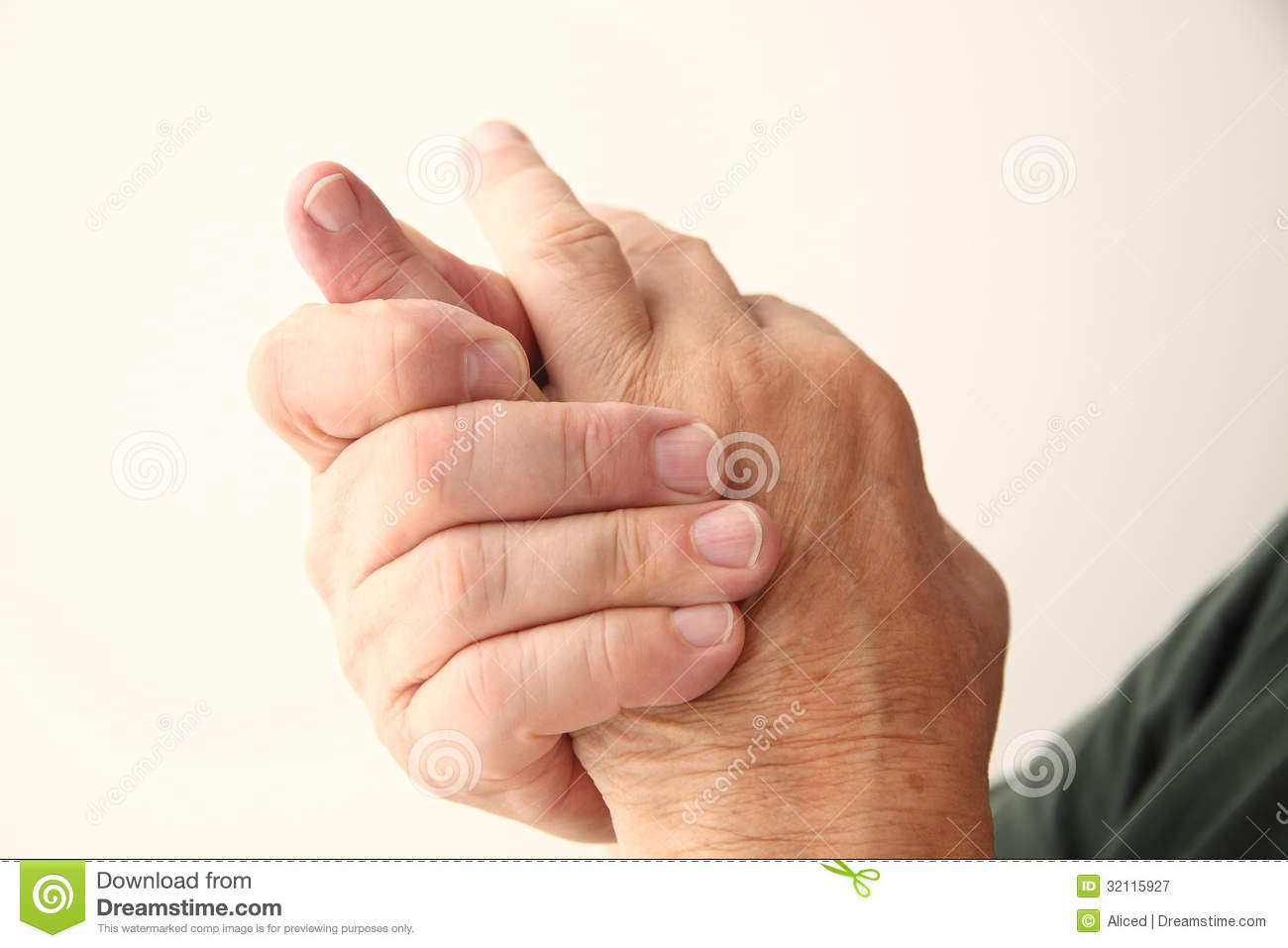 Man Has Pain In Pinky Finger Stock Image Image Of Horizontal
