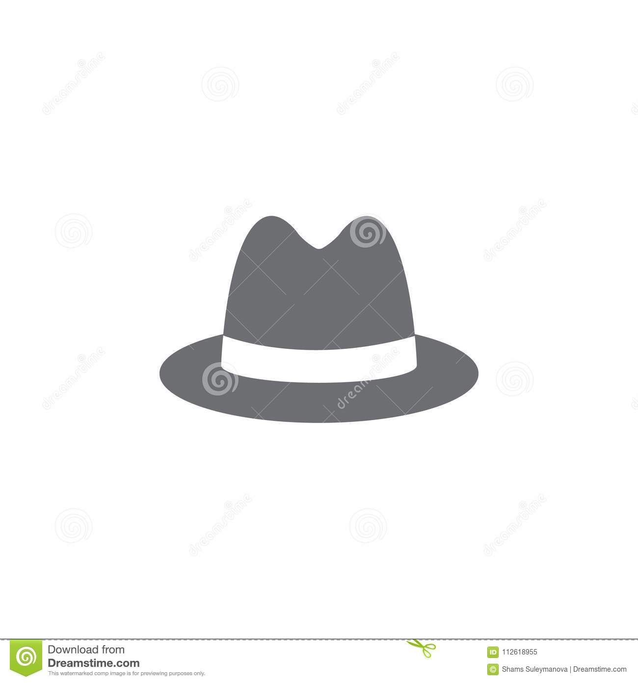 Man Hat Icon Simple Element Illustration Symbol Design Template Can Be