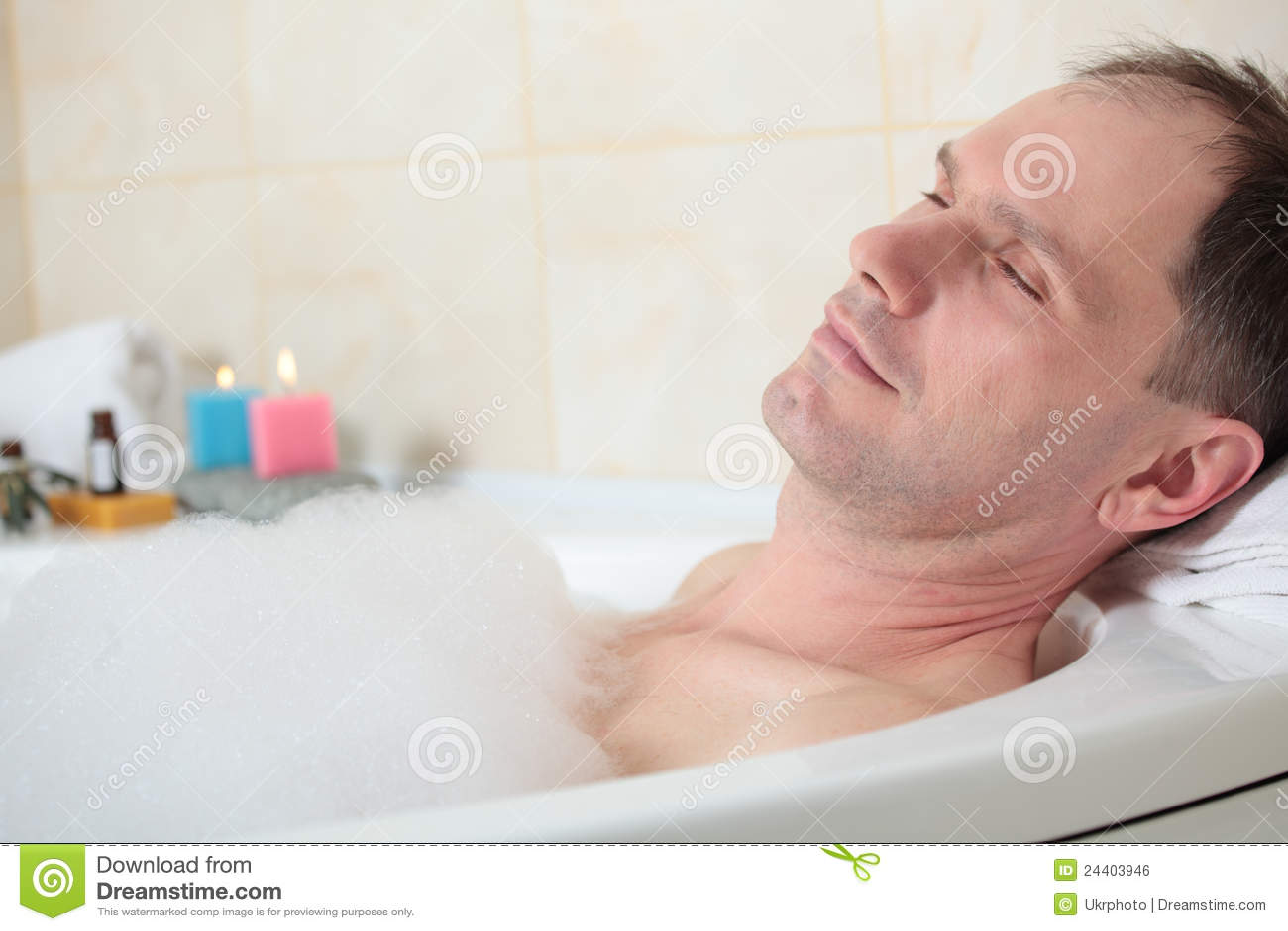 Man having a bath stock photo image of bathroom caucasian 24403946 - Image of bath room ...