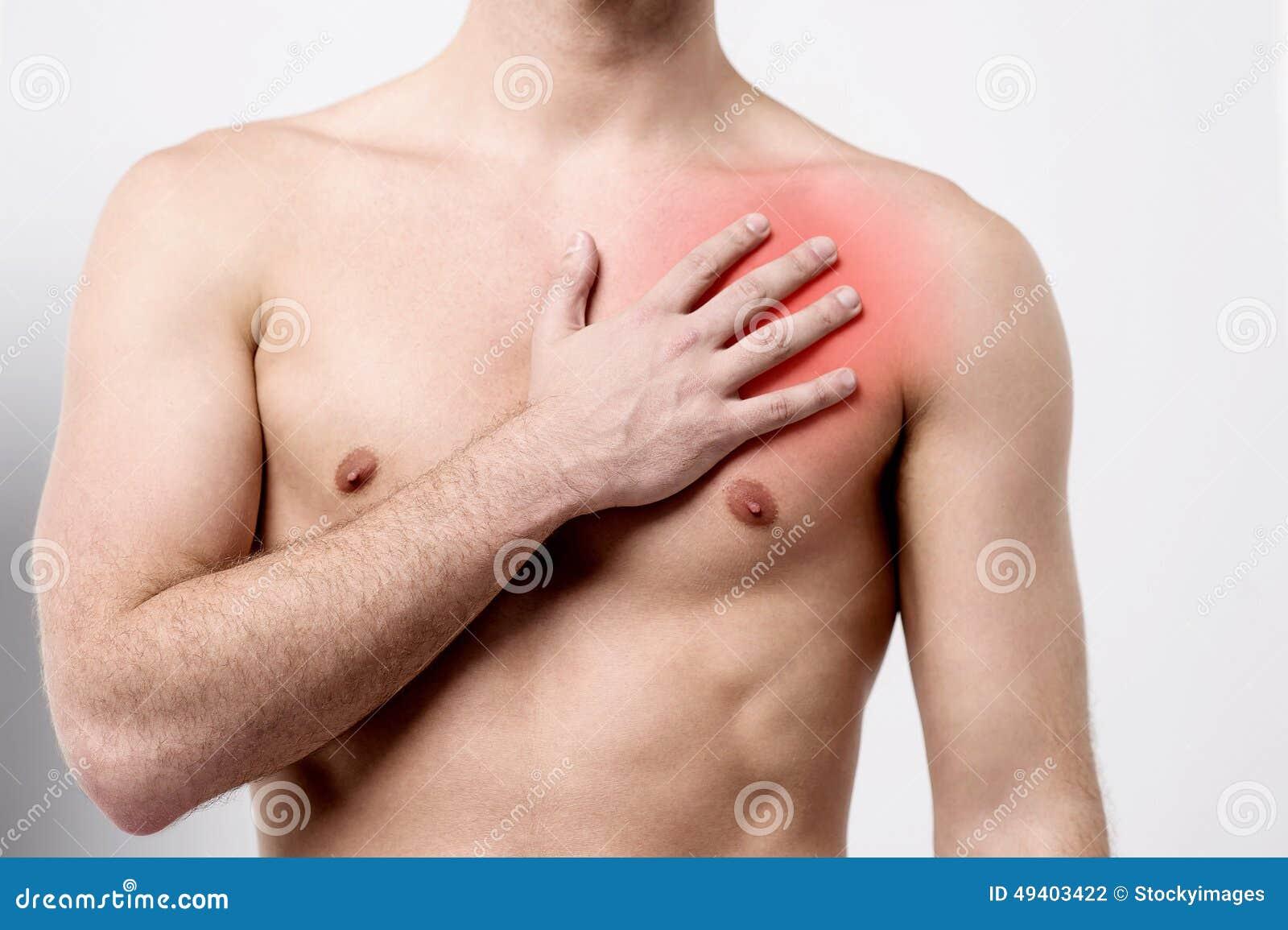 man having chest pain, heart attack. stock photo - image: 49403422, Cephalic Vein