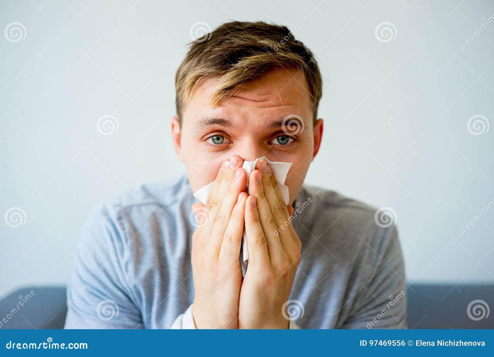 Man having cold