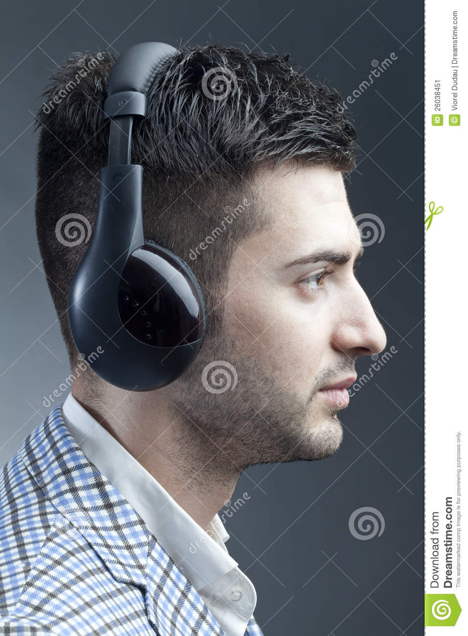 Man With Headsets Stock Image Image 26038451