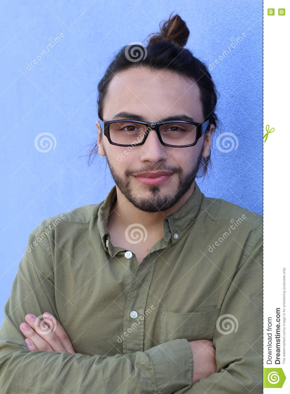 man hipster style fashion guy beard glasses portrait casual person