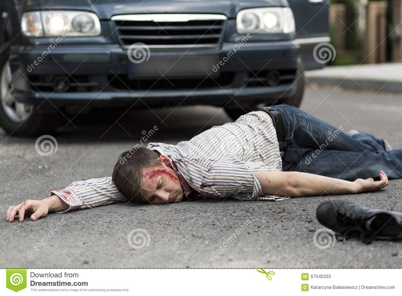 Man On A Bicycle Gets Hit By A Car