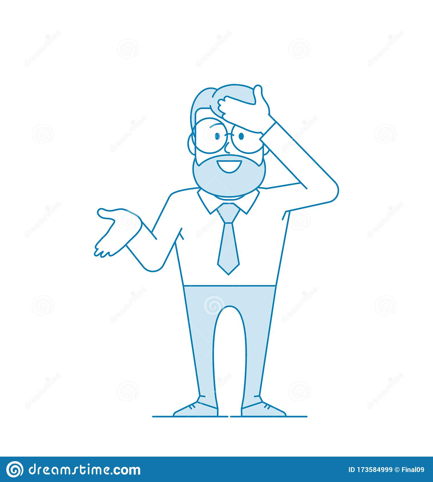 Man Hits His Forehead With His Open Hand Stock Vector ...