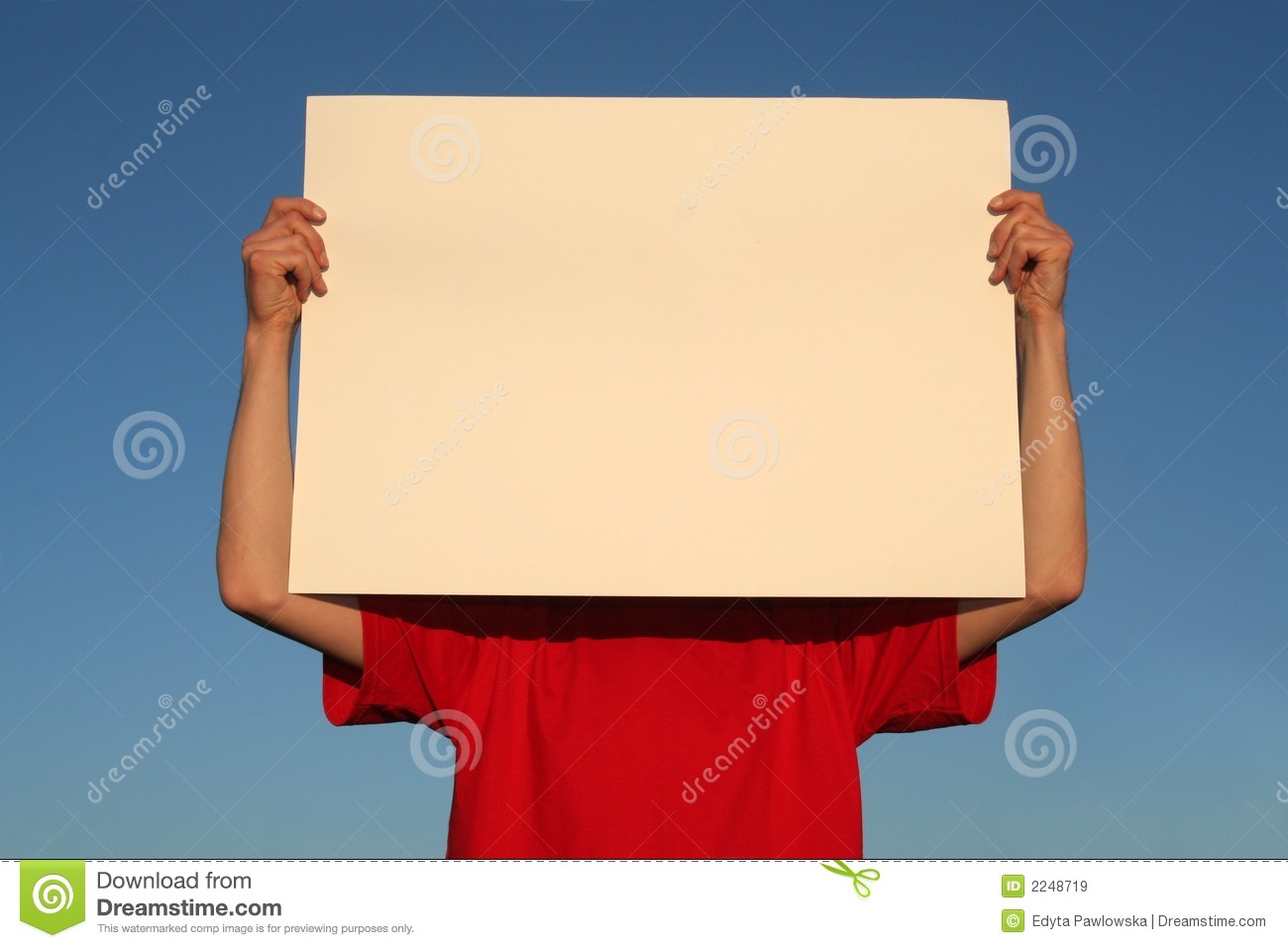 Man Holding Blank Poster Board Royalty Free Stock Images - Image ...