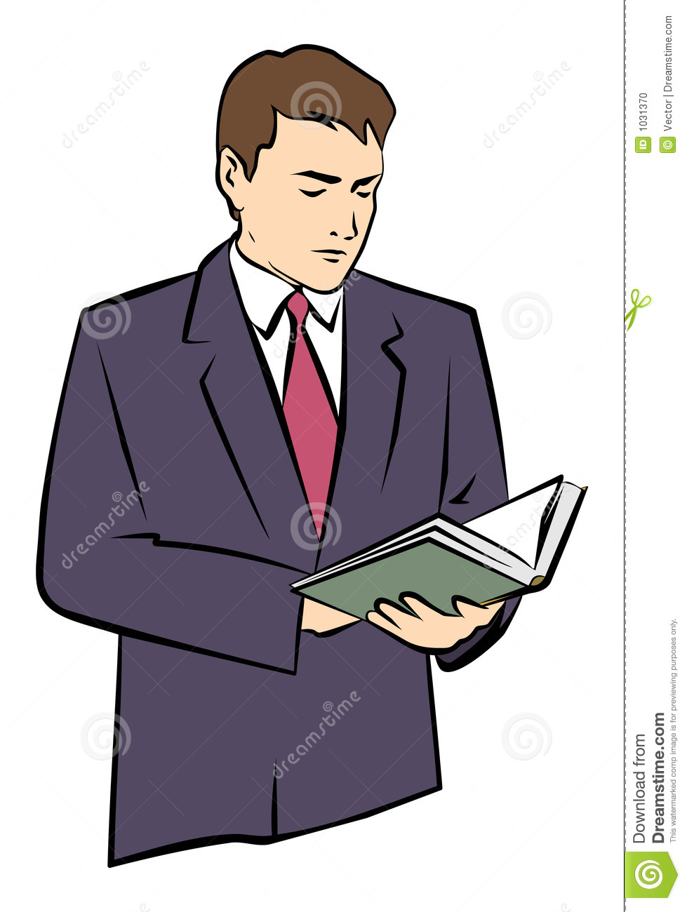 A Man Holding a Book in His Hands. JPG and EPS