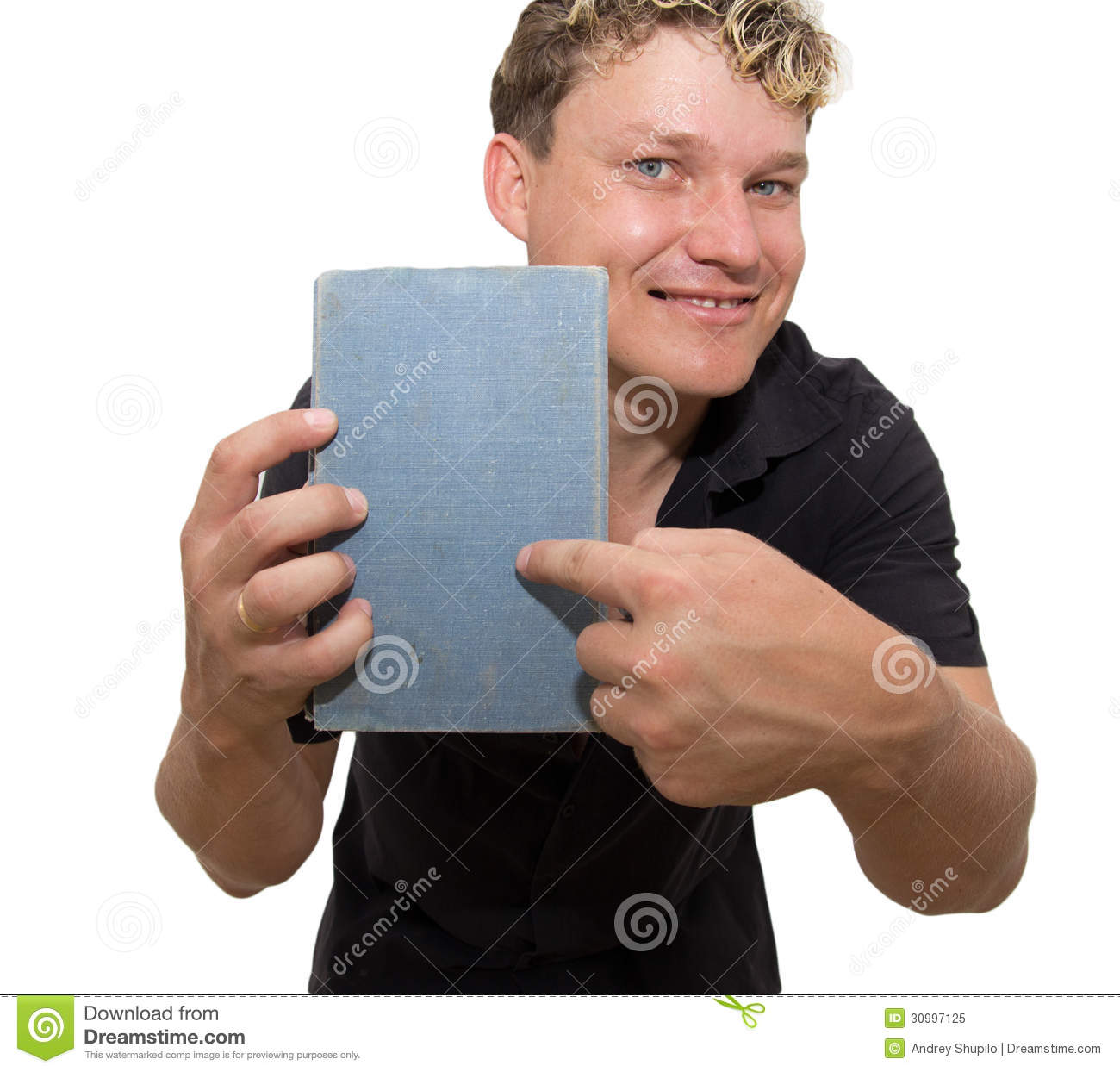 Man Holding A Book Stock Image. Image Of Handsome, Pretty