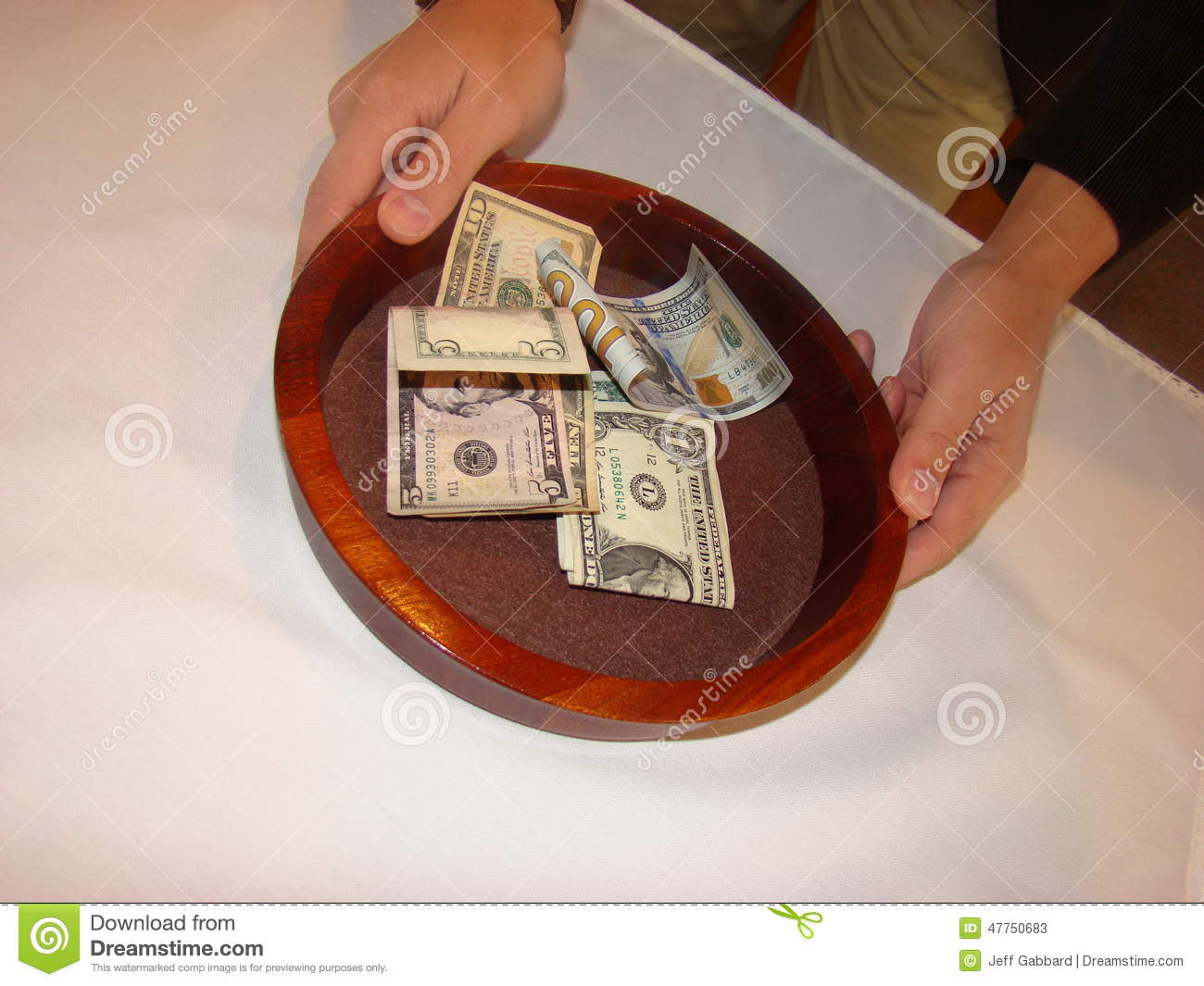 Man holding Collection Plate