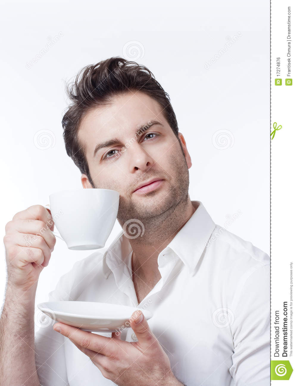 Man Holding Cup Of Coffee Royalty Free Stock Image - Image ...