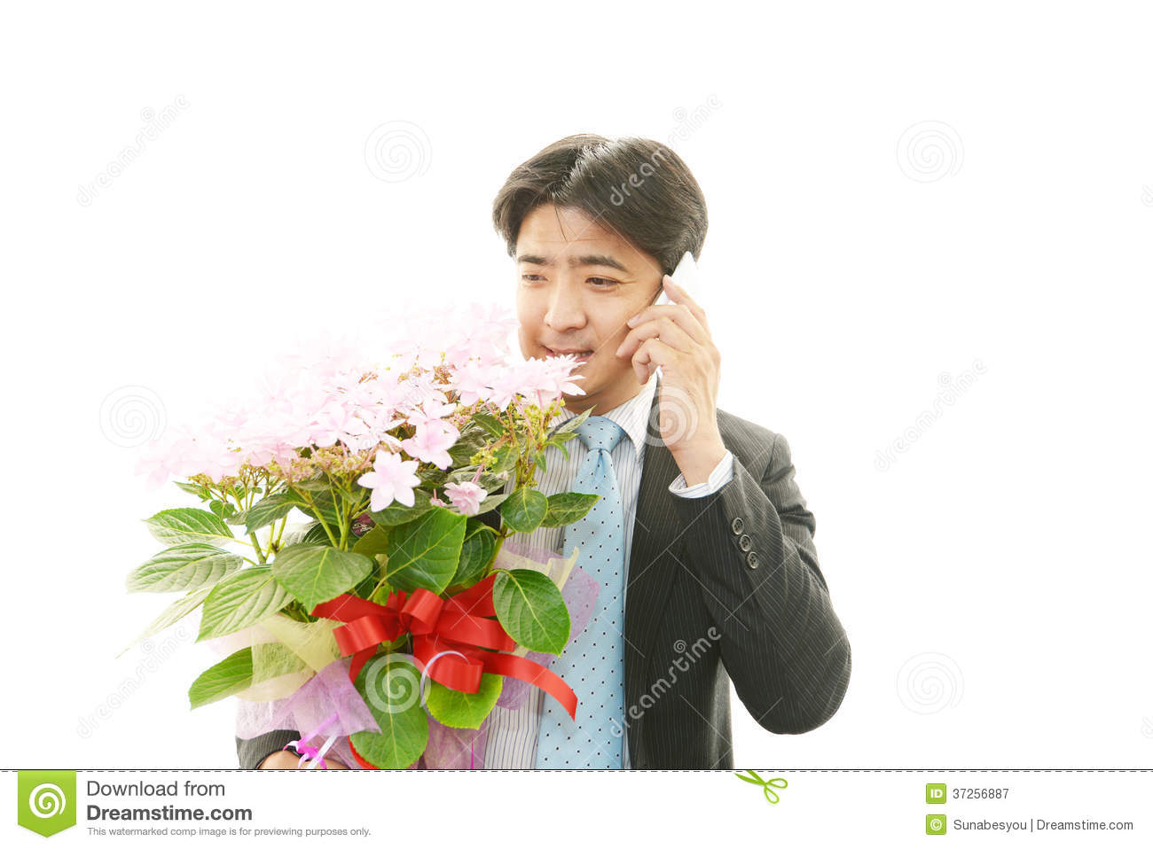 Man holding flower bouquet stock image image of salaried 37256887 man holding flower bouquet izmirmasajfo Image collections