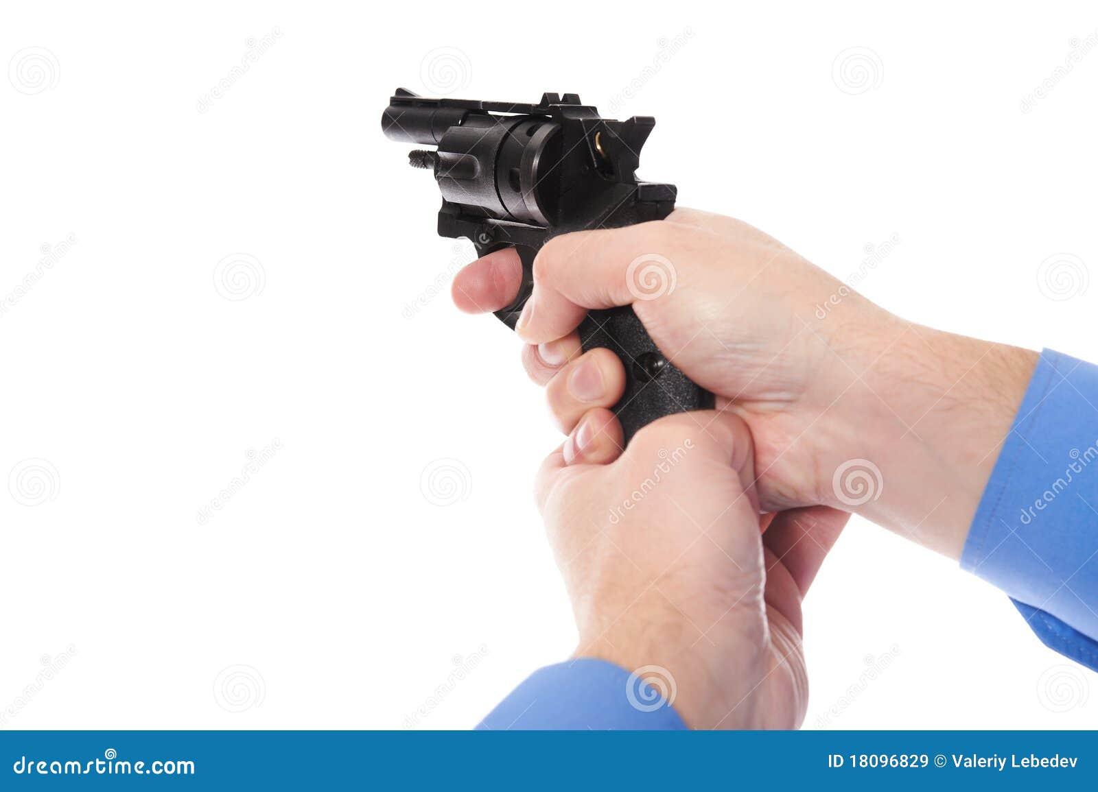 Man Holding A Gun Royalty Free Stock Images - Image: 18096829