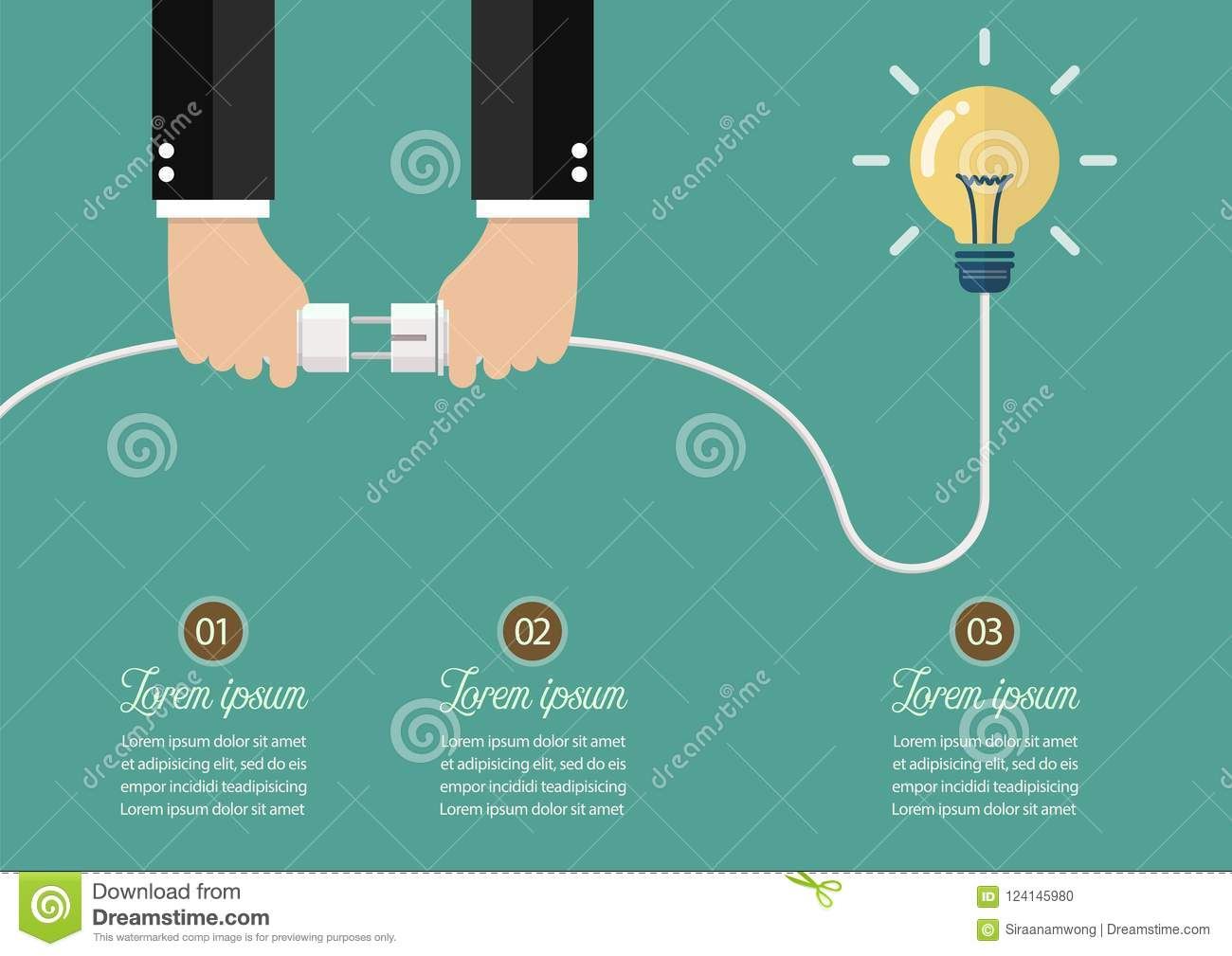 Man Holding In Hand Plug And Socket To Connect An Idea Stock Vector ...