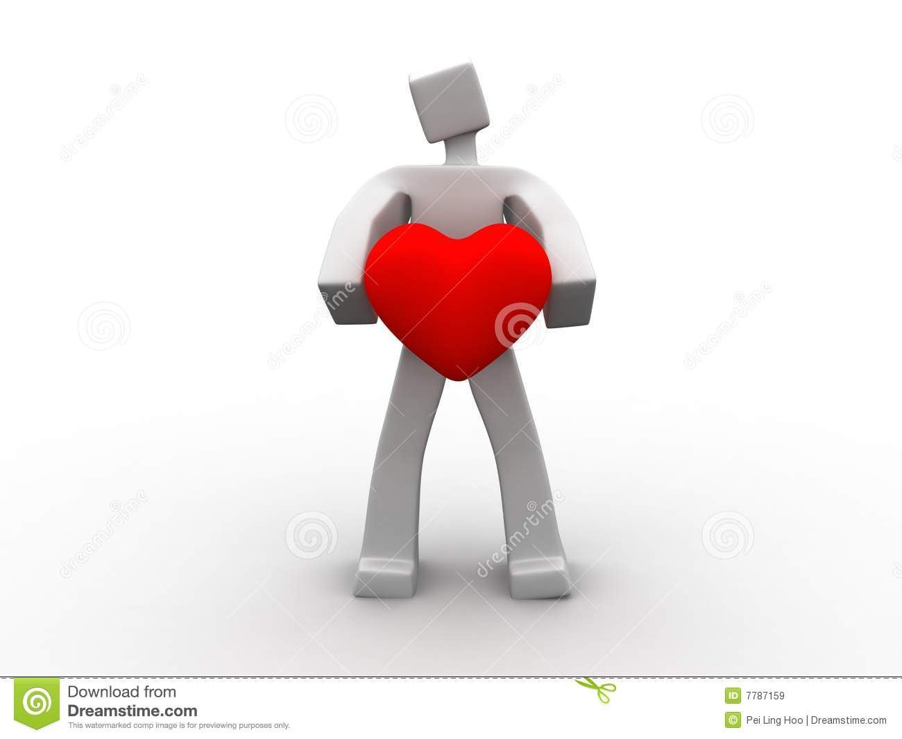 man holding a heart symbol royalty free stock images