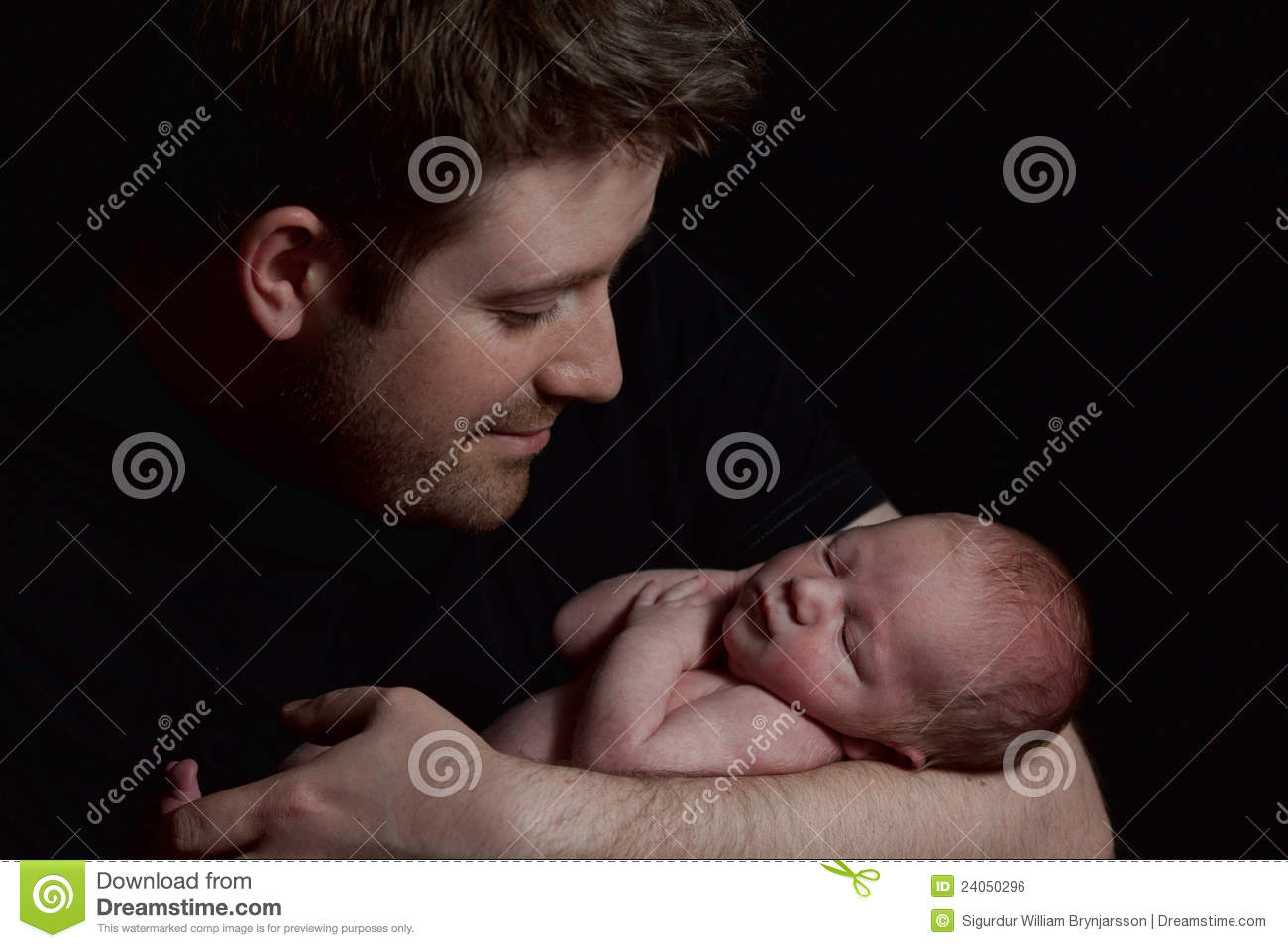 A man holding an infant