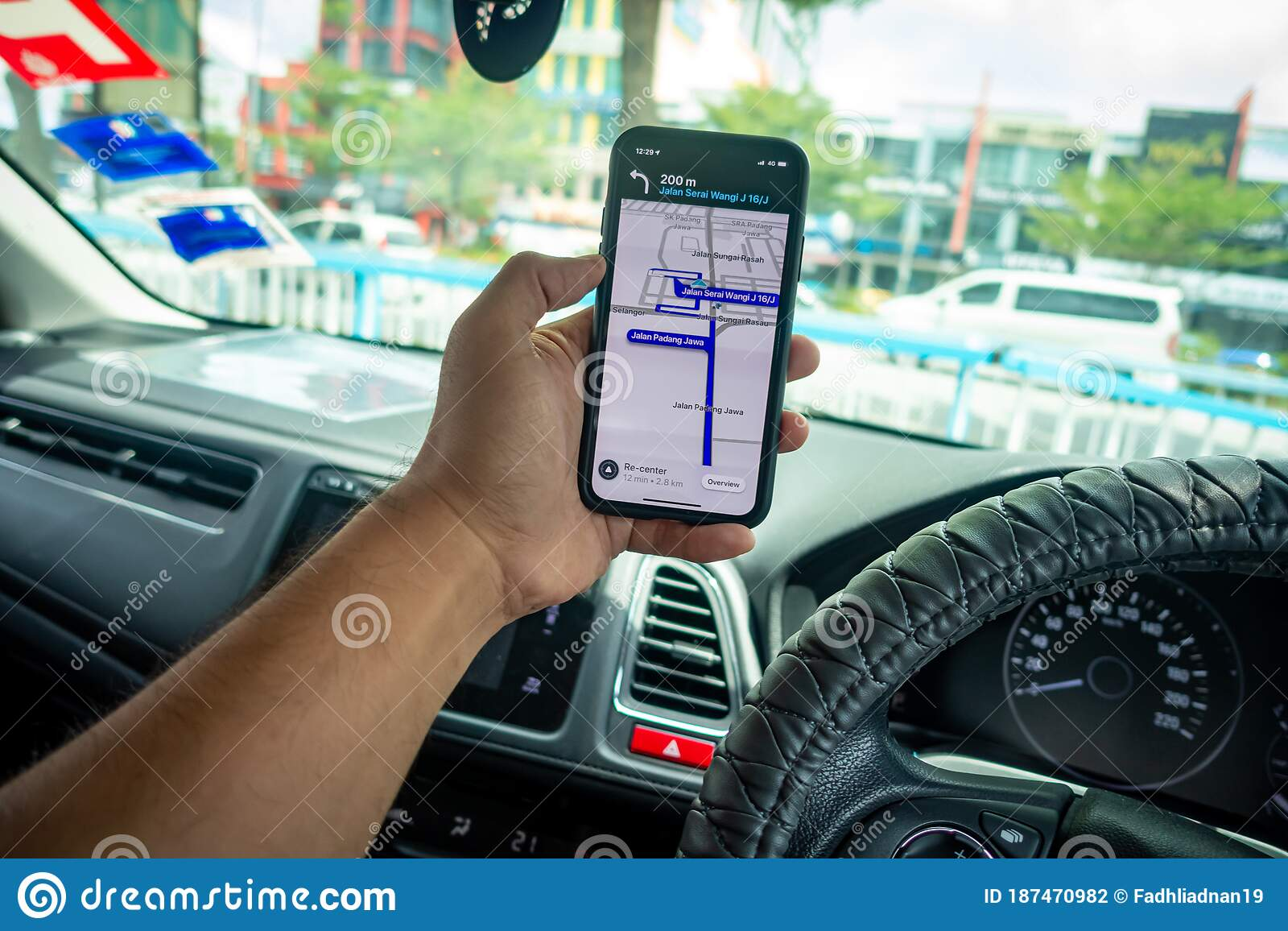 A Man Holding The Iphone X With Waze Navigation App Inside The Car Editorial Photography Image Of Screen Drive 187470982