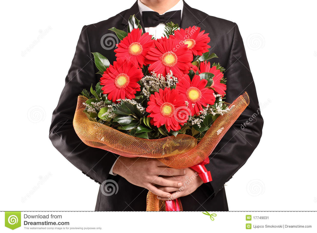 Pretty bouquet of flowers for a man gallery wedding and flowers a man holding a large bouquet of flowers stock image image of izmirmasajfo Image collections