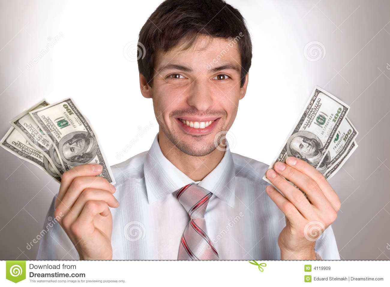 Man Holding Money Stock Image Of People Currency