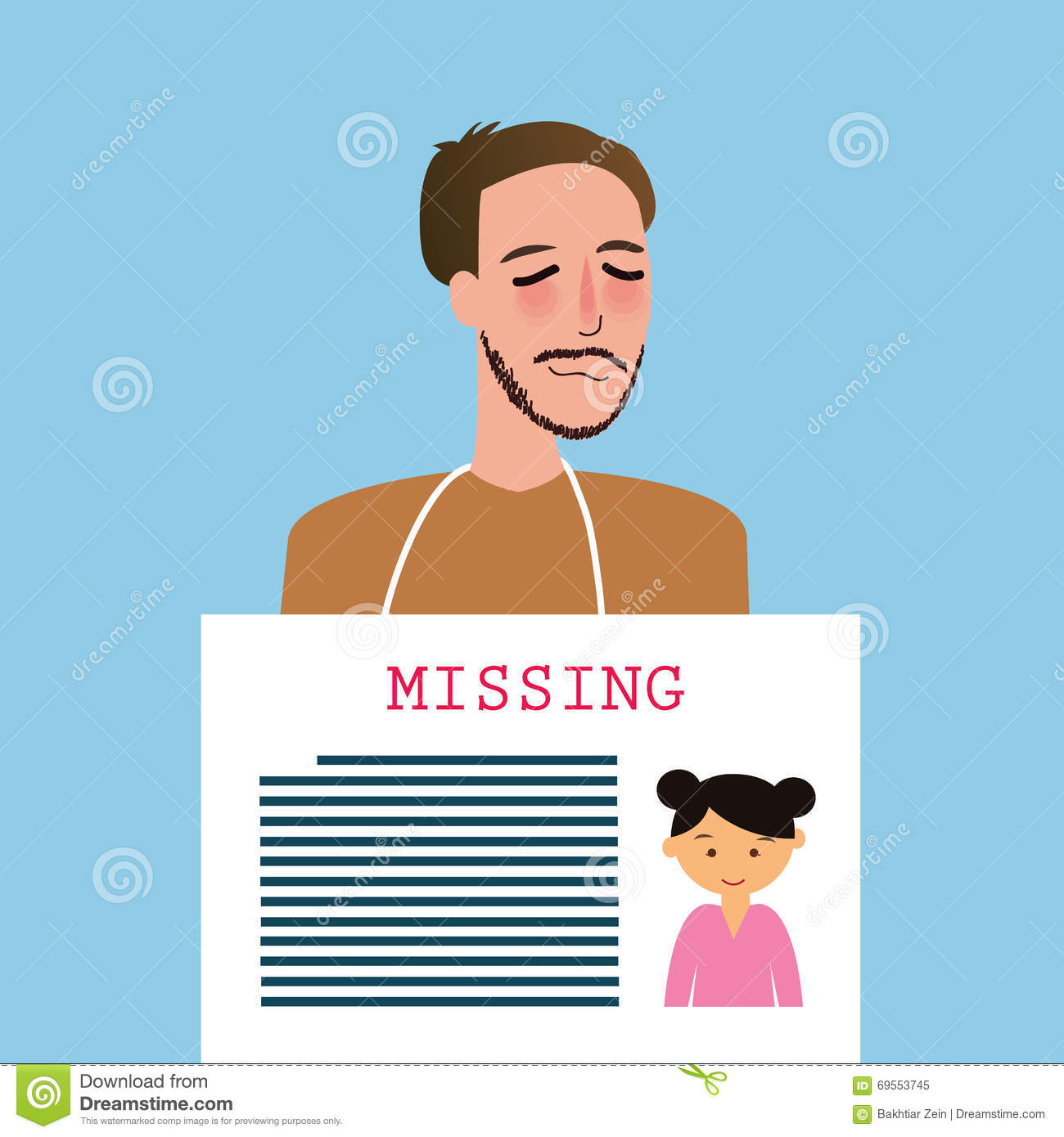 Man Holding Sign Of Missing Children Kids Announcement Board  Funny Missing Person Poster