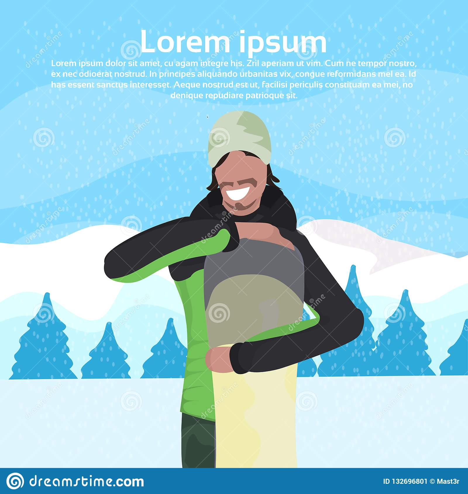 26a54d0b442 Snowboard Portrait Stock Illustrations – 143 Snowboard Portrait Stock  Illustrations