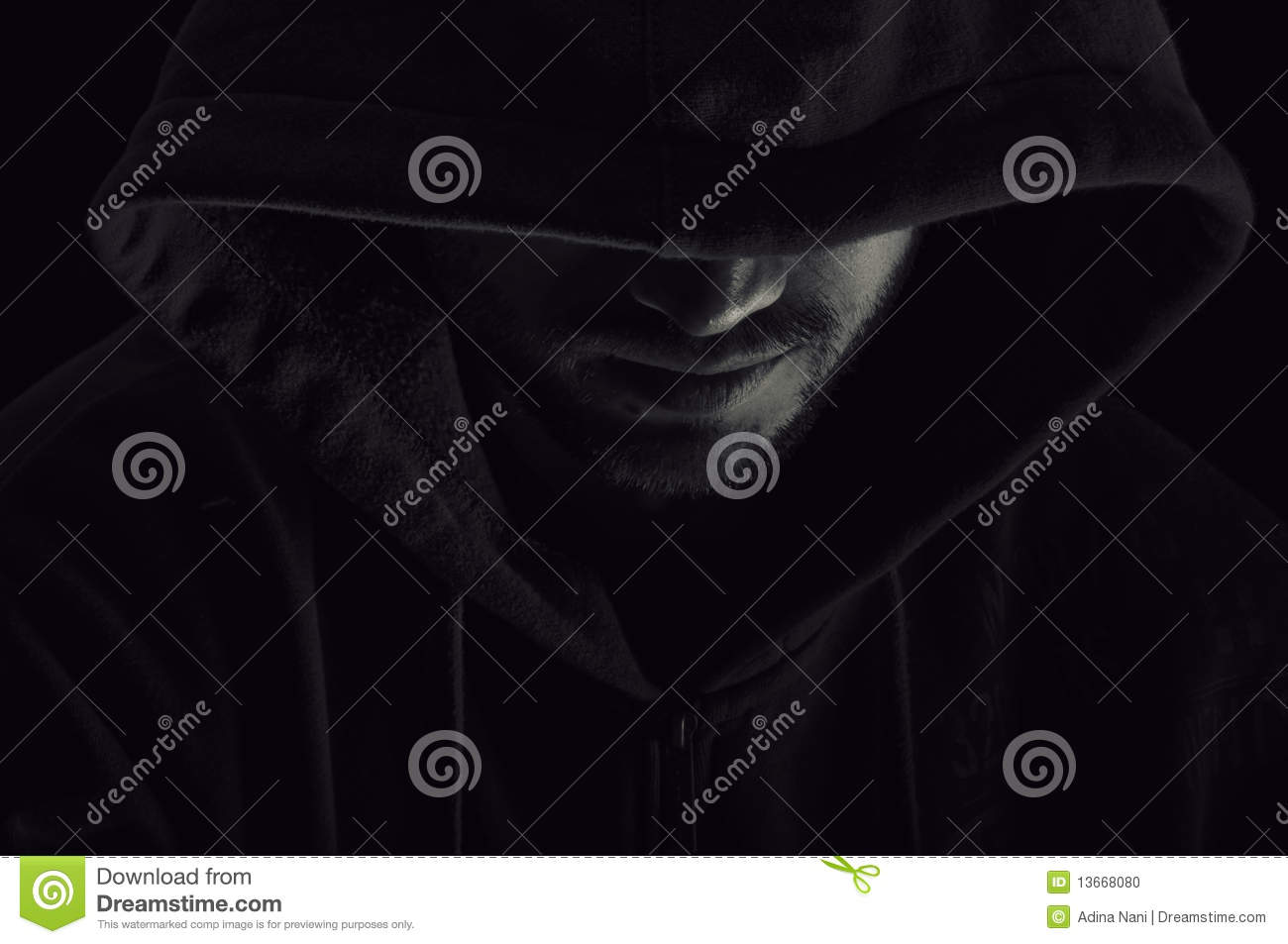 Download Man with hood stock photo. Image of mystery, disguise - 13668080
