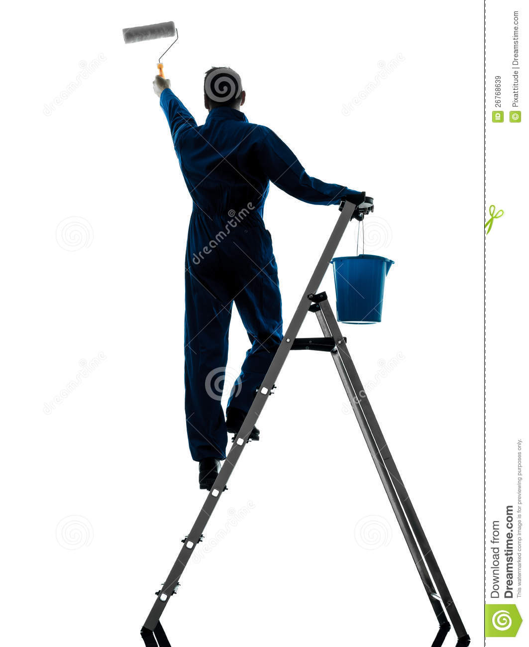 Man House Painter Worker Silhouette Royalty Free Stock Images - Image: 26768639