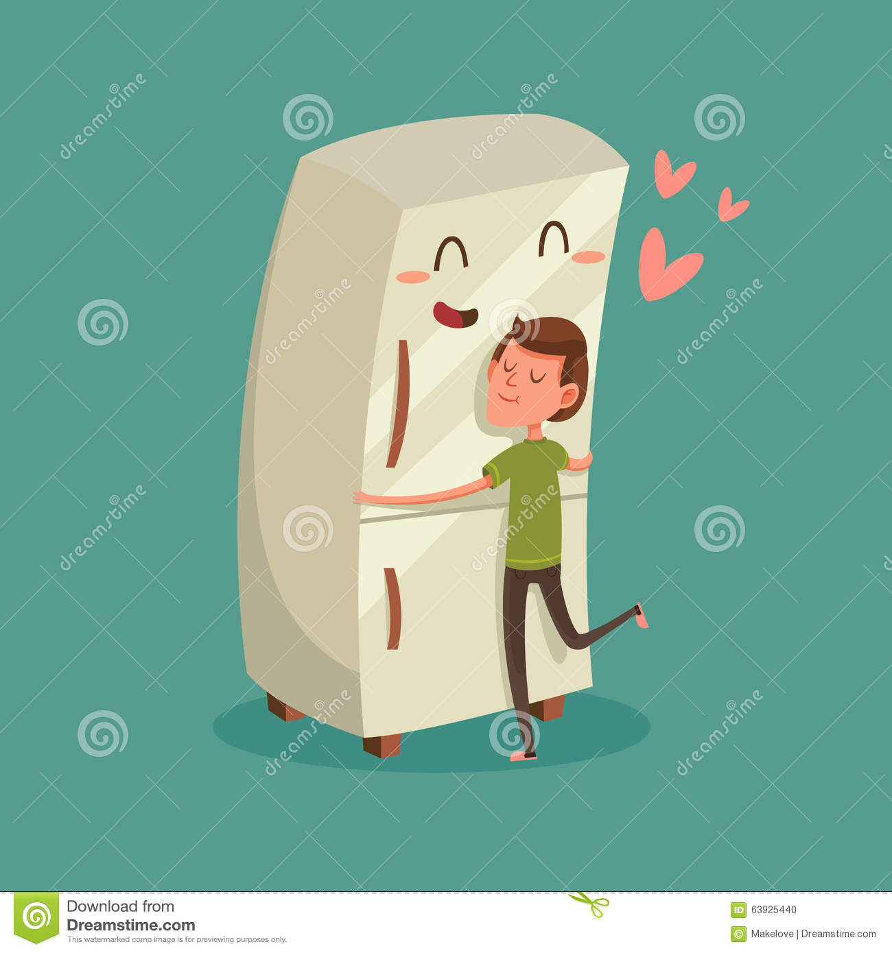 man hugging refrigerator stock vector illustration of hug clipart black and white hug clipart png