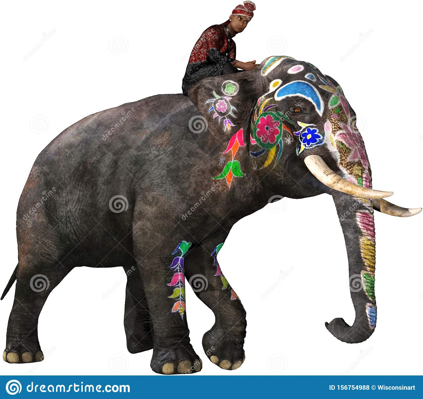 India Painted Indian Elephant Isolated Stock Photo Illustration Of Indian Wisconsinart 156754988 Indian elephant elephant festival, decorative indian elephant, brown elephant illustration, mammal, food png. https www dreamstime com man india asia rides painted indian elephant people animal isolated white png file available india image156754988