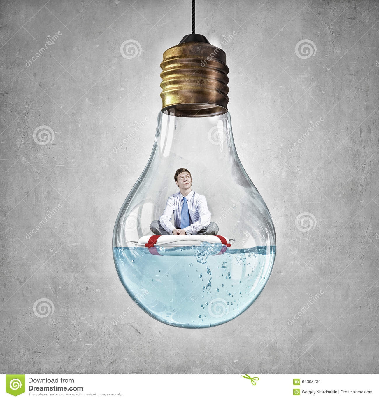 man inside light bulb stock photo image of handsome 62305730
